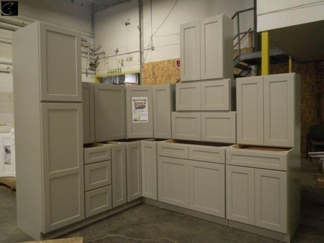 Stone Harbor Gray Kitchen Cabinet Set 10\'x12\'   Lambrecht ...