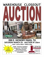 Warehouse Closeout Auction