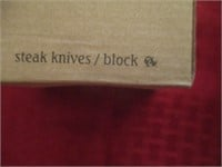 North American Fishing Club Steak Knives / Block