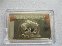 100 Mills, 1 Troy Ounce Buffalo Bar