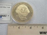George Washington 24kt Gold Layered Presidential