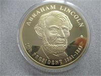Abraham Lincoln 24kt Gold Layered Presidential