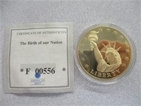 The Birth Of Our Nation 24kt Gold Layered Coin