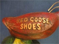 """Cast Iron """"Red Goose Shoes"""" Logo Goose Bank"""
