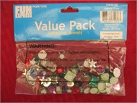 Party Supplies (Adhesive Jewels, Toe Rings)