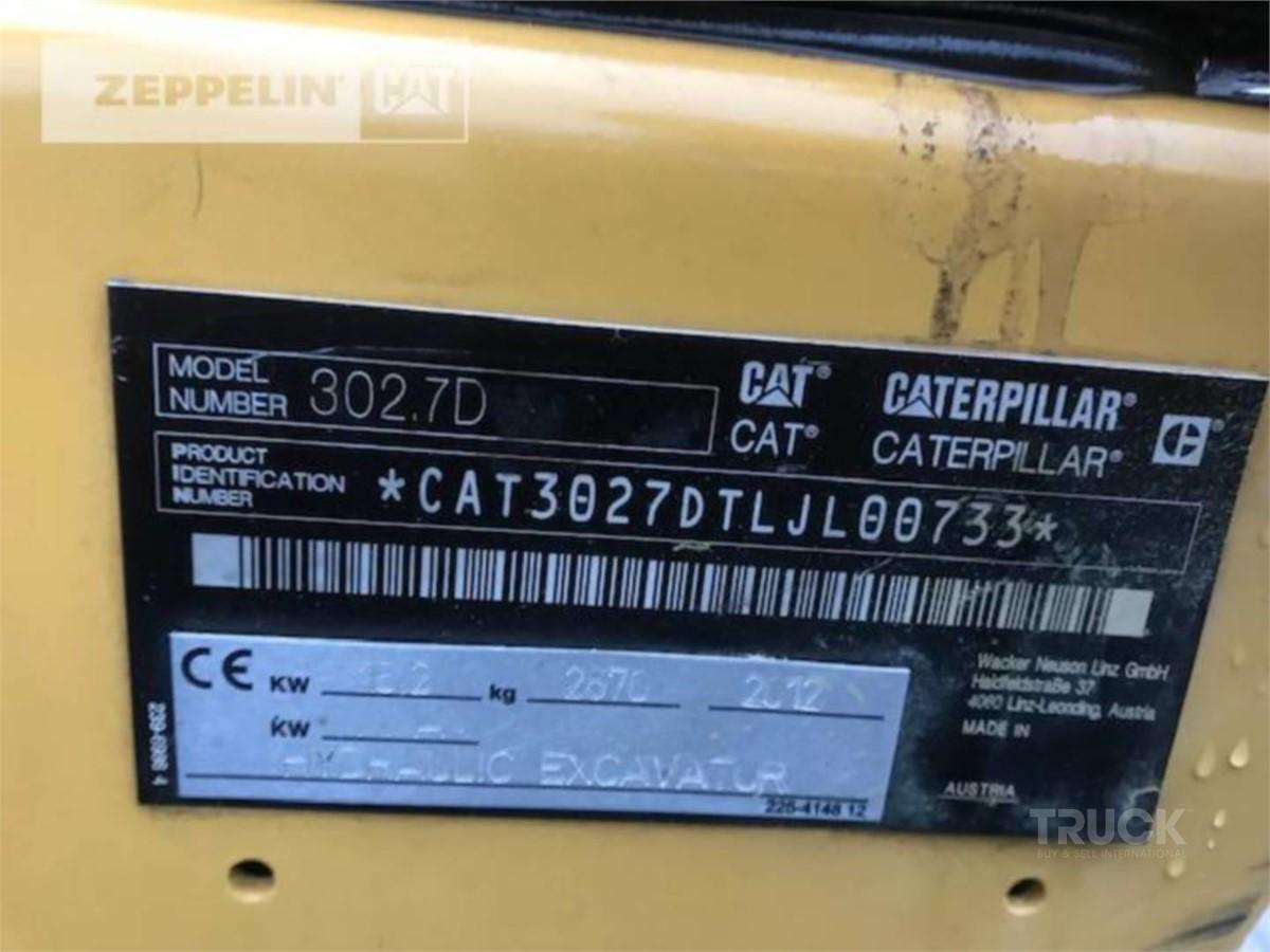 CATERPILLAR 302.7D CR