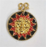 """Sun"" Owsley Stanley 22k Gold Pendant"