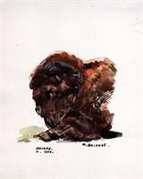 Geldhof. Dessin original Bison