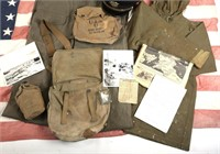 WWII D-DAY FLOWN FLAG LST 314 & LT. OAKES ARCHIVE