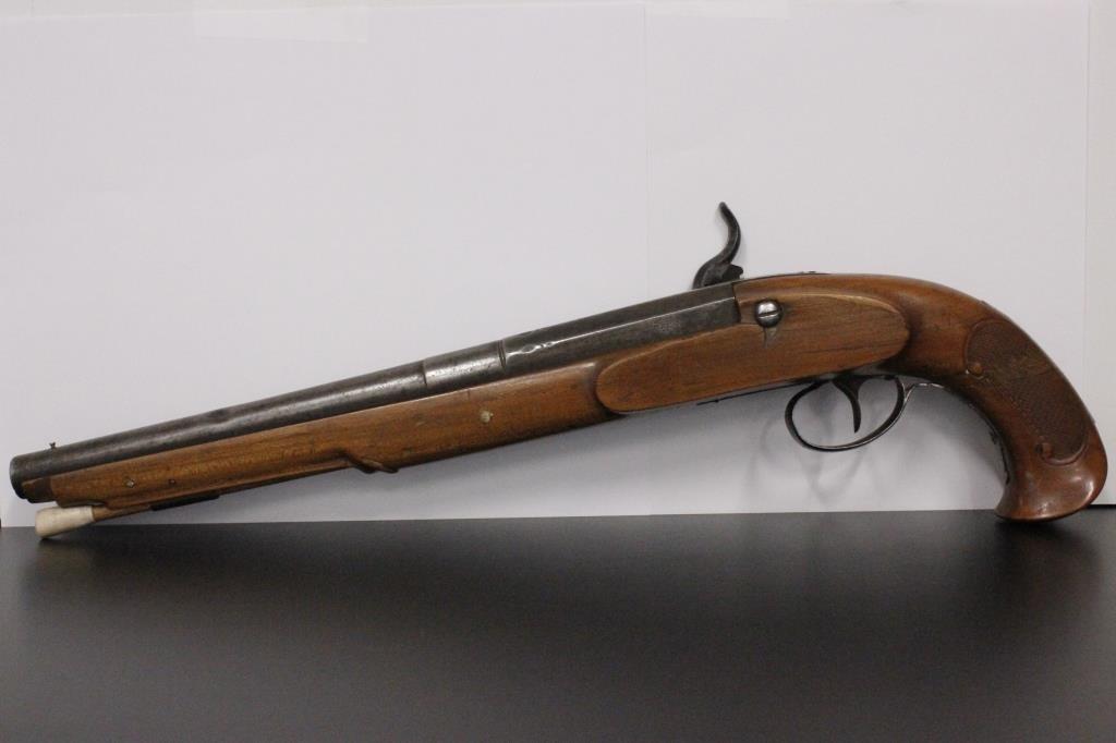 Antique Muzzleloading Single Shot Pistol   Meridian Public
