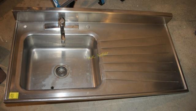 Sears Stainless Steel Sink with Drainboard   H. K. Keller