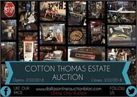 """A Little Piece of Cotton - Estate of Donald """"Cotton"""" Thomas!"""