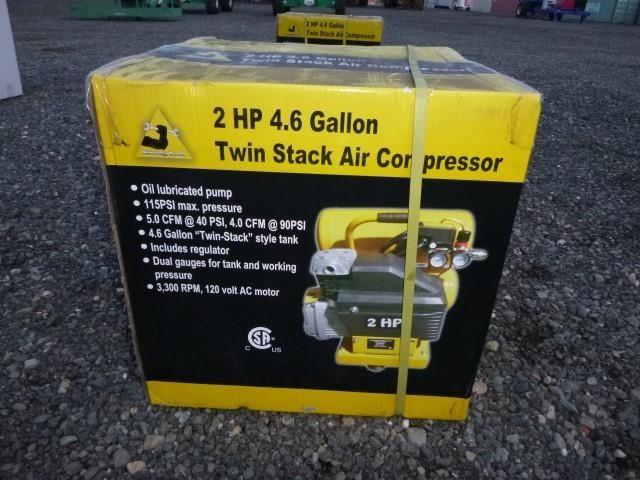 Twin Stack Air Compressor | Bar None Auction