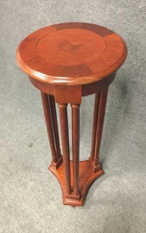 Wood Pedestal Plant Stand Triple Seven Auctions