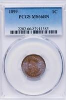1C 1899 PCGS MS66 BN