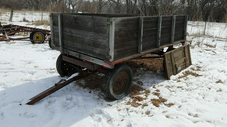 Wooden Wagon On Running Gear Tilts No Cylinder Adam Marshall