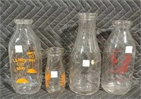 Online Only approx 300+/- Milk Bottles Feb. 21 @ 6pm CST