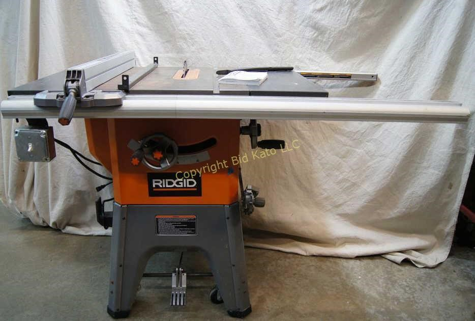Professional Rigid 10 Table Saw R4512 Bid Kato