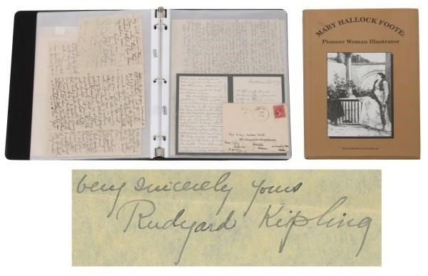 10 Kipling Letters To Mary Hallock Foote Fontaine S Auction Gallery