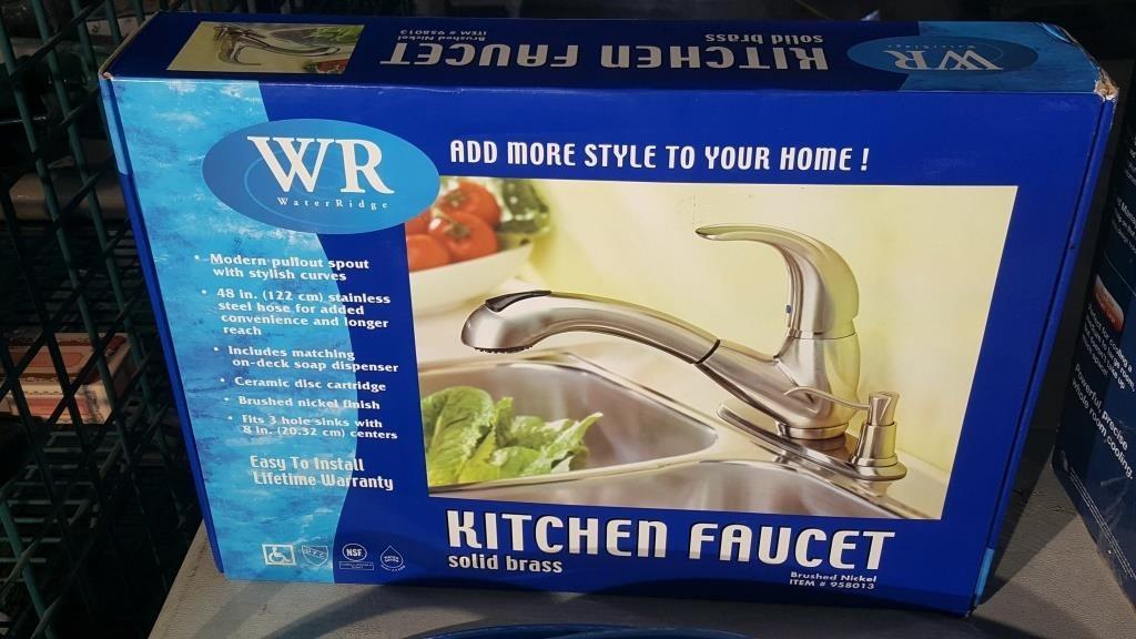 Water Ridge Kitchen Faucet Solid Brass Estate Auctioneer
