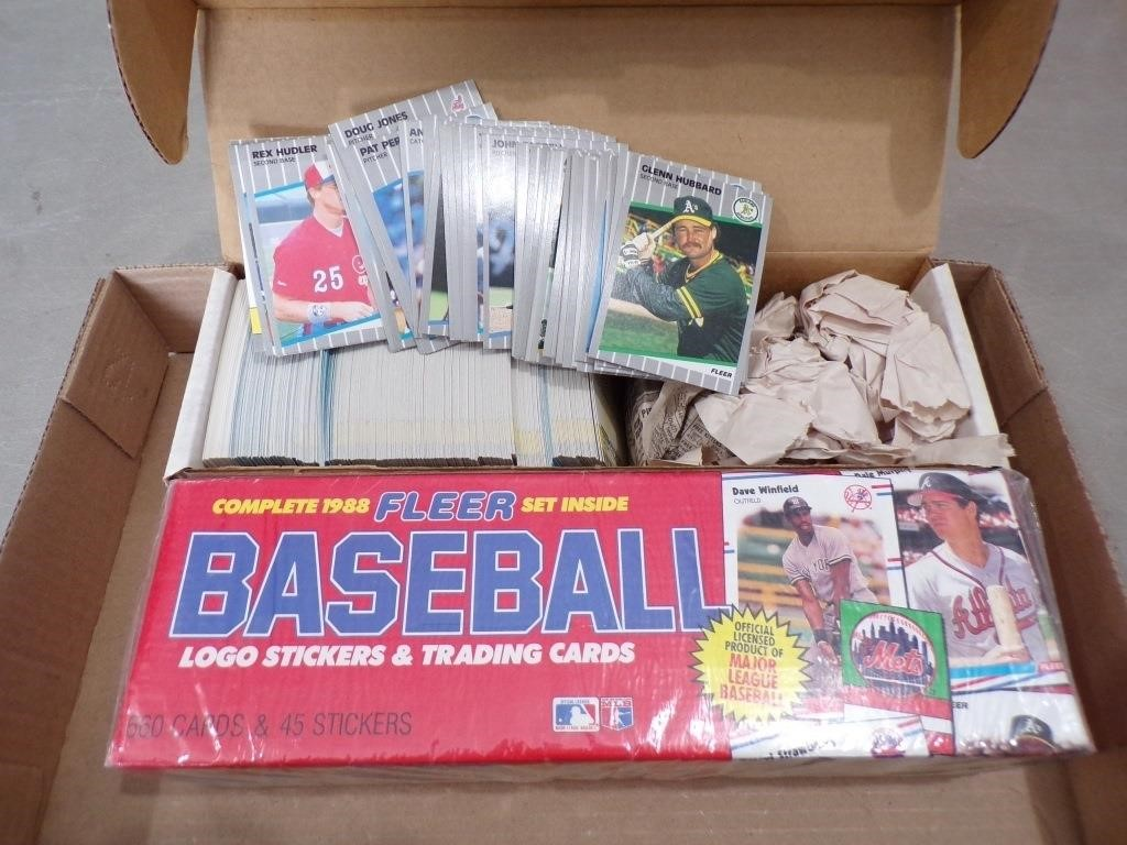 1988 Fleer Unopened Other Baseball Cards Superior Auction