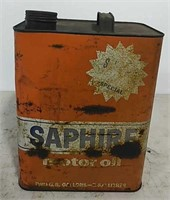 Saphire Motor Oil can