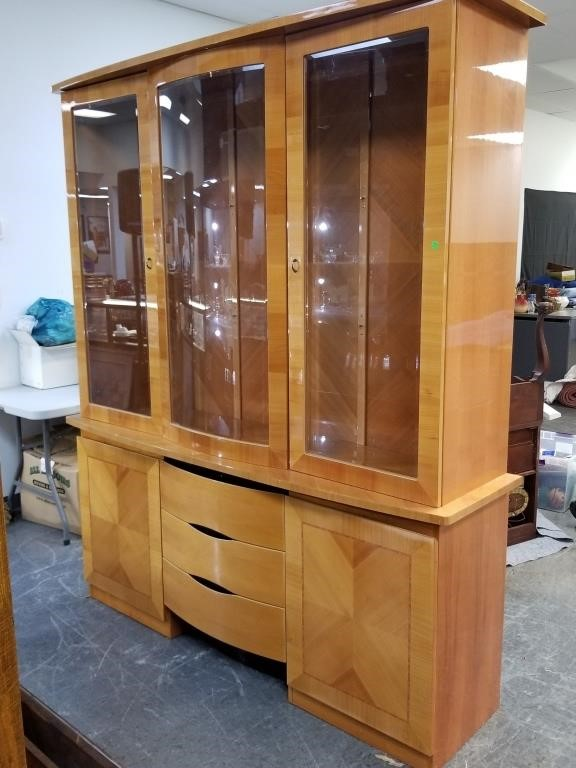 Lot 6 Large Excelsior Italian China Cabinet
