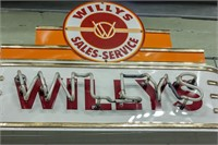 Willy's Sales and Service Neon Sign