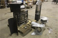 Encore Wood Stove With Piping