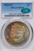 $1 1893-CC PCGS MS64 CAC