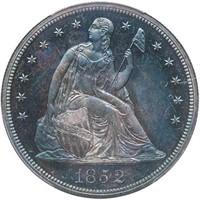 $1 1852 ORIGINAL. PCGS PR65 CAC