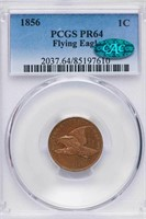 1C 1856 FLYING EAGLE PCGS PR64 CAC