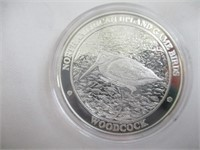 North American Upland Game Birds Silver Proof