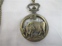 Bull Pocket Watch