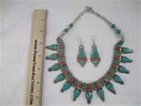 Necklace, Earrings