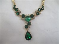 Necklace, Earrings, Size 8 Ring, Jewelry Box