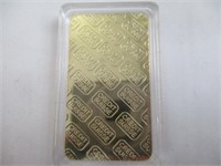 2) 1oz 999.9 Gold Clad Bars-Auth. Not Verified