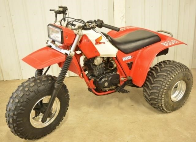 1984 Honda Atc 200x 3 Wheeler Kraft Auction Service