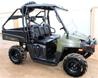 2010 Polaris 800 EFI Ranger XP, 4x4, gas eng, manual dump bed, 6- ply tires, new spare tire, warn winch on front, 819 hrs/5485 miles.