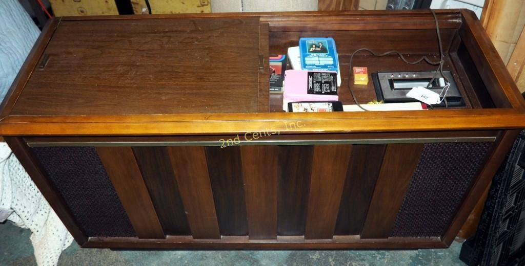 Vintage R C A Mark Eight Console Stereo   HiBid Auctions