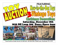 Christmas Toy & Decoration Auction - LAST CALL
