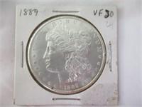 1889 Silver Morgan Dollar, VF30