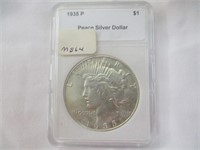 1935-P Silver Peace Dollar, MS64 Uncirculated