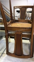 Set of 6 Danish mid century dining chairs