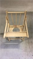 Antique Wood Child's potty chair 22 1/2