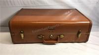 "Vintage Samsonite luggage 21""x13""x7 1/2"" with key"