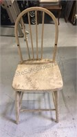 "Wood child's stool 21"" seat height"