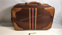 "Vintage luggage with key 22""x14""x8"""