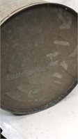 """Vintage Galvanized Garbage Can stamped """"4820"""" on"""