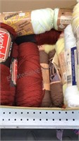 Box Lot of Unopened Yarn various colors approx 30